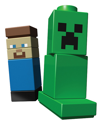 Two Minecraft Characters