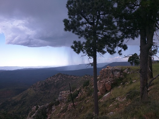 Expansive Vista from the Mogollon Rim in Northern AZ represents freedom